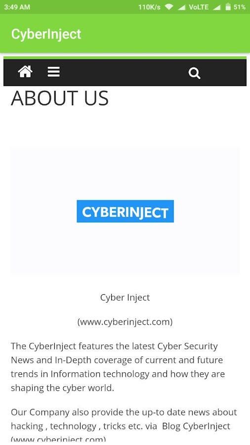 cyberinjectapp- screenshot