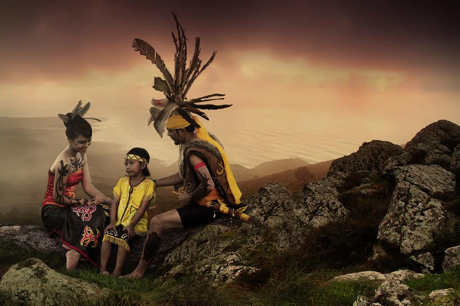 Story of Dayak people #1 by Leonardi Narada - Digital Art People