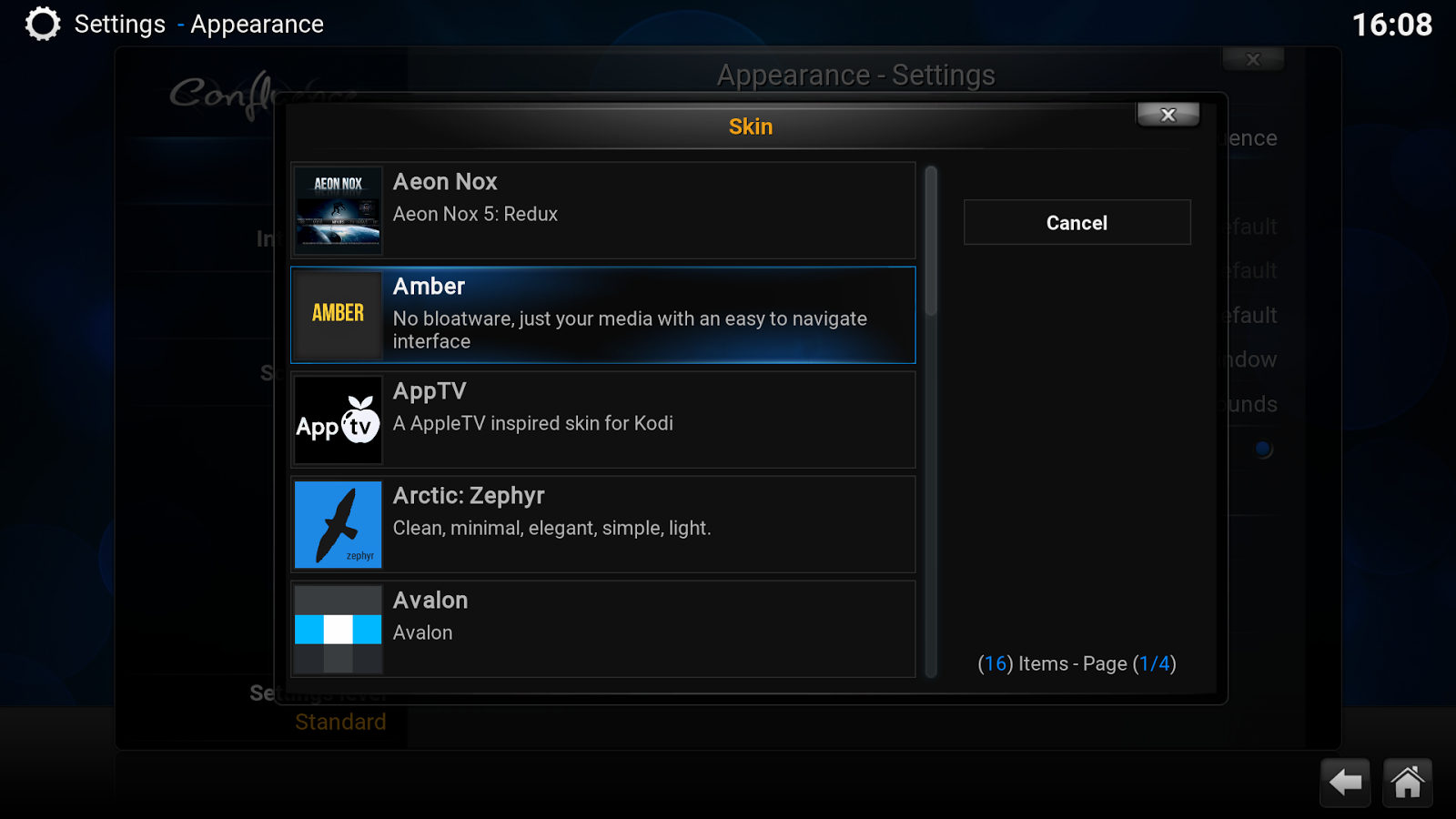 Kodi- screenshot
