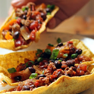 Turkey, Black Bean, And Three-chile Taco Boats