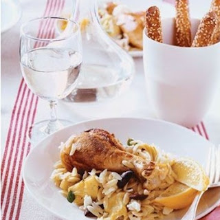 Weight Watchers Mediterranean Lemon Chicken with Artichokes and Orzo