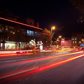 Long Exposure by Baghiu Lucian - City,  Street & Park  Night ( color, city, long exposure, romania, night photography )