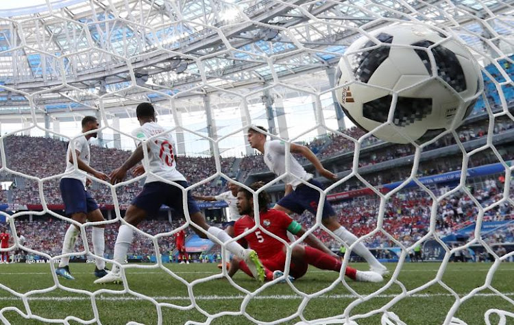 England scores against Panama at the World Cup in Russia. Picture: REUTERS