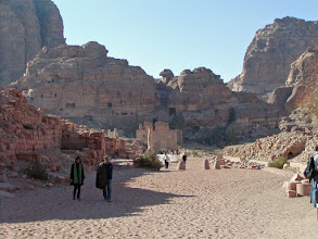 Photo: Approaching the ancient city of Petra