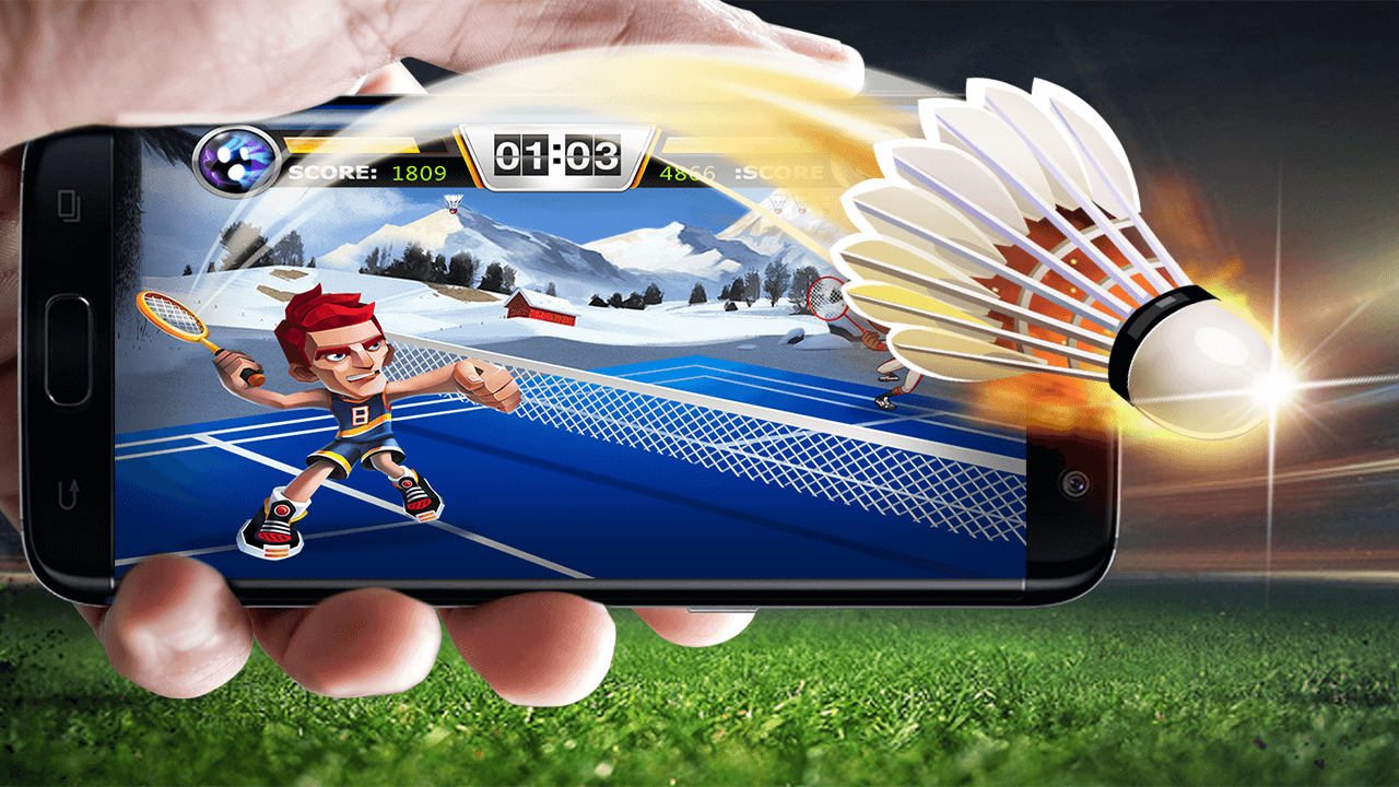 Stick Badminton 2 - Two Player Games