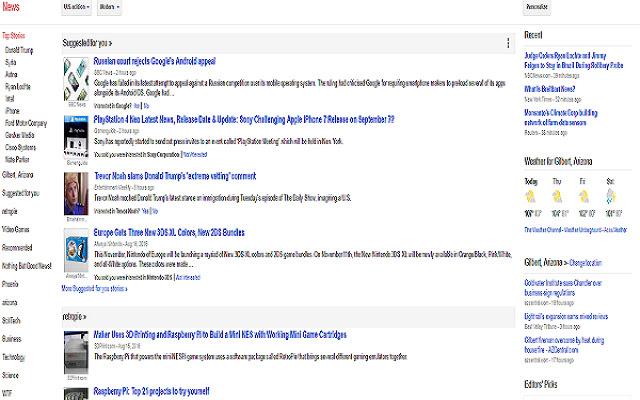 Google News No Top Stories