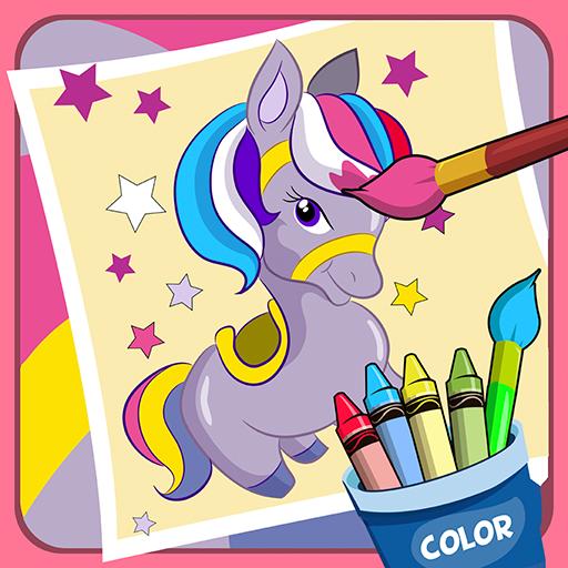 Pony coloring game 休閒 App LOGO-APP試玩