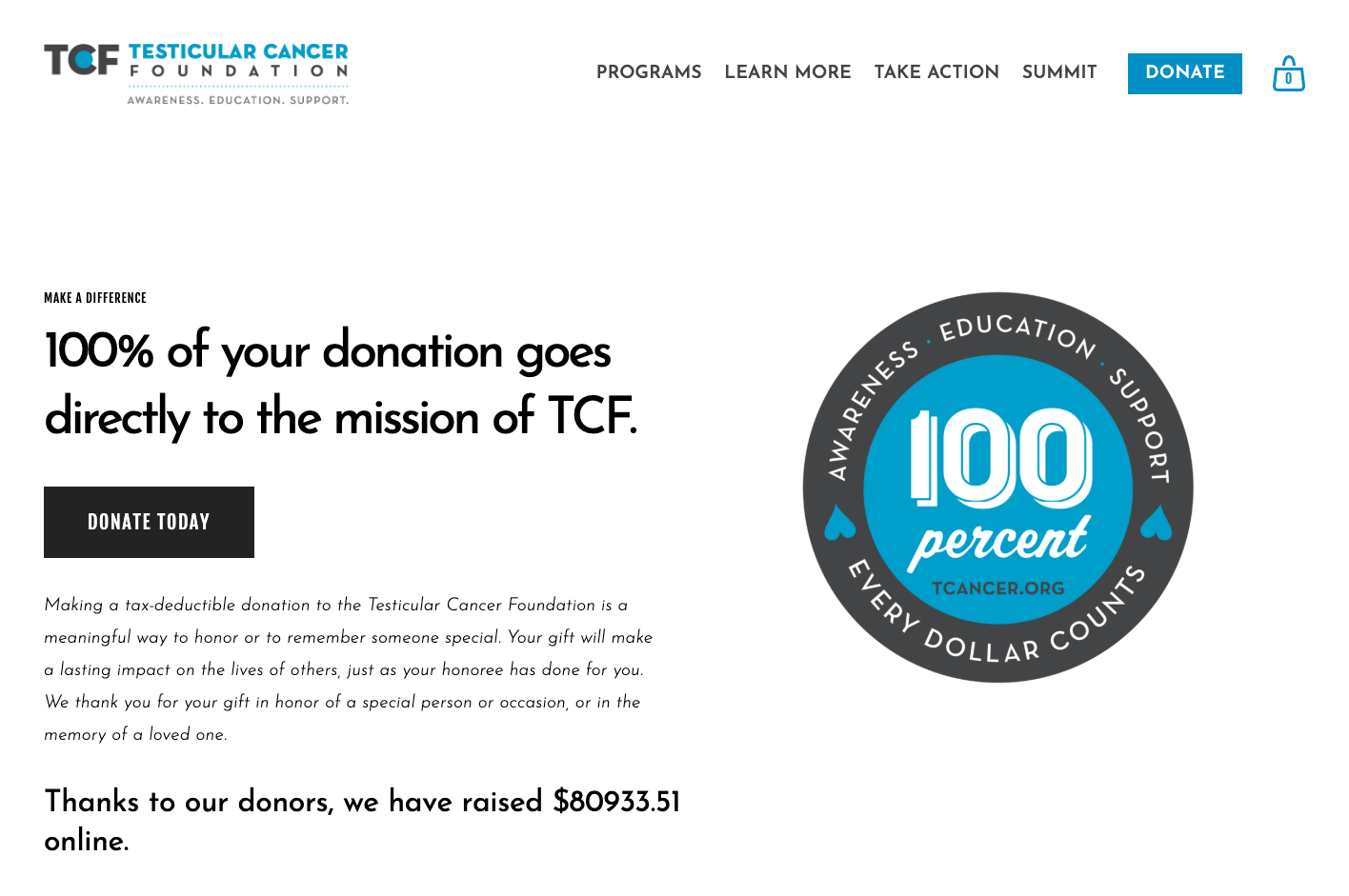 TCF-donation-page-raise-more-through-website