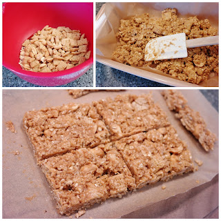 No-Bake Peanut Butter Cereal Bars {Gluten-Free}