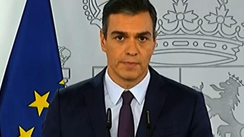 Pedro Sánchez, durante su intervención de hoy.