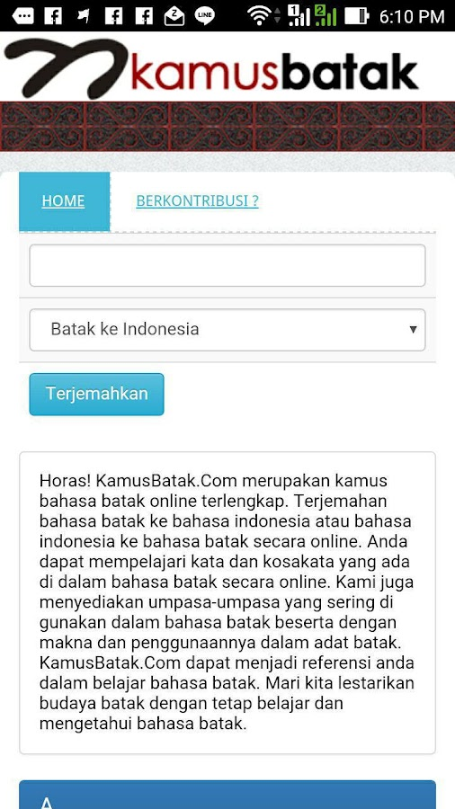 Kamus Batak- screenshot