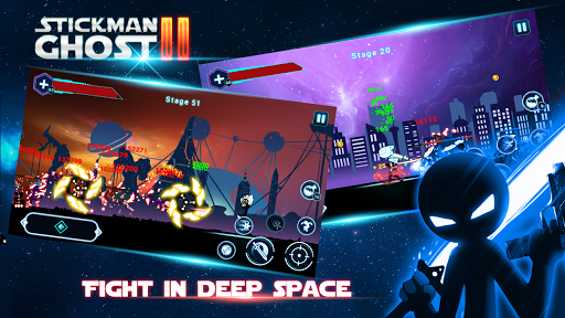 Stickman Ghost 2: Galaxy Wars - Shadow Action RPG  captures d'écran 1