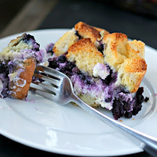 Overnight Blueberry Stuffed French Toast.