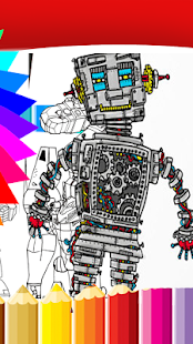 Coloring For Super Tobot Galaxy - Adult - náhled