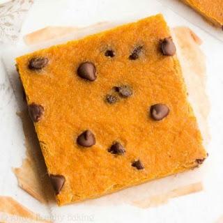 Chocolate Chip Pumpkin Pie Brownies.