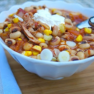 Slow Cooker Black-Eyed Pea and Pork Chili.