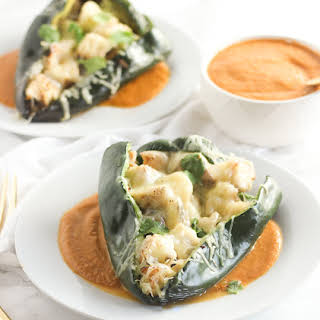 Grilled Chile Rellenos.