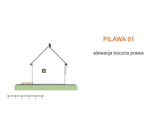 Pilawa 01 - Elewacja prawa