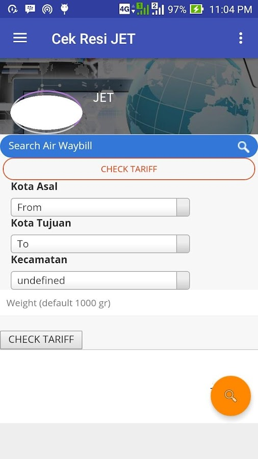 Cek JET Resi Barcode Scan- screenshot