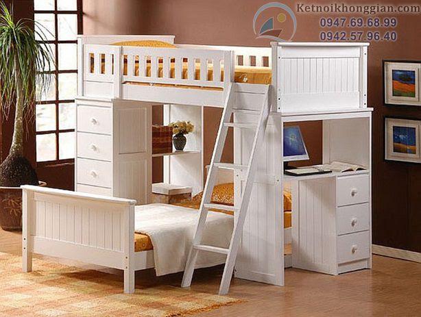 thiết kế phòng ngủ với giường tầng