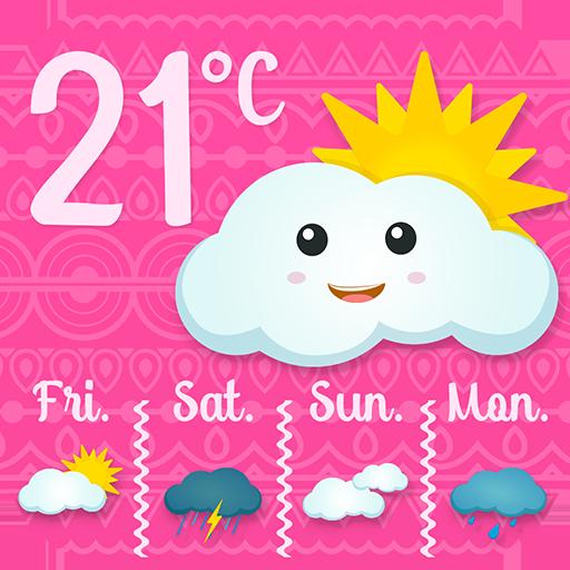Pink Weather Widget Icon