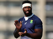 Springbok captain Siya Kolisi applauds his team mates during the South Africa captain's run at Arcs Urayasu Park Urayasu, Chiba, Japan on Friday ahead of their 2019 Rugby World Cup final against England on Saturday.