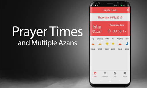 Americas Prayer Times, Azan, Qibla for Muslim 4.1 screenshots 1