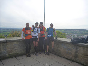 Photo: Gruppenfoto am Aussichtspunkt: v.l.n.r Mareile, Ralf, Peer, Klaus