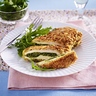 Oat-Crusted Pesto Chicken