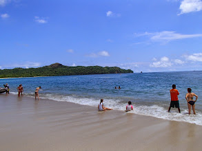 Photo: Enjoying the surf at Playa Conchal - yes, they got a ton of sand in their swimsuits