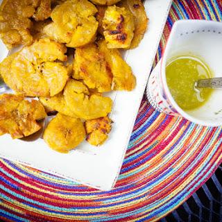 Crispy Plantains with Garlic Sauce