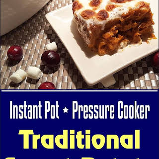 Traditional Pressure Cooker Sweet Potato Casserole.