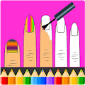 Nails Art: Girls Fashion Coloring Book APK