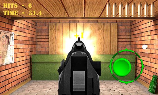 Pistol shooting at the target.  Weapon simulator 4.0 screenshots 2