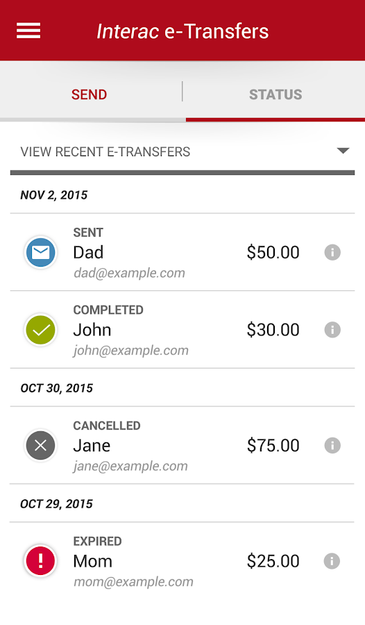 how to receive interac e transfer td bank