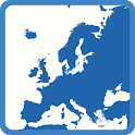 Blank map Europe icon