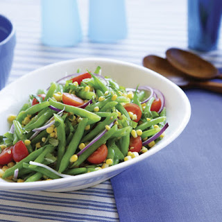 Green Bean Salad with Corn, Cherry Tomatoes & Basil
