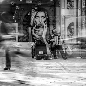Time by Rafael Kos - City,  Street & Park  Street Scenes ( person, movement, street, black&white )