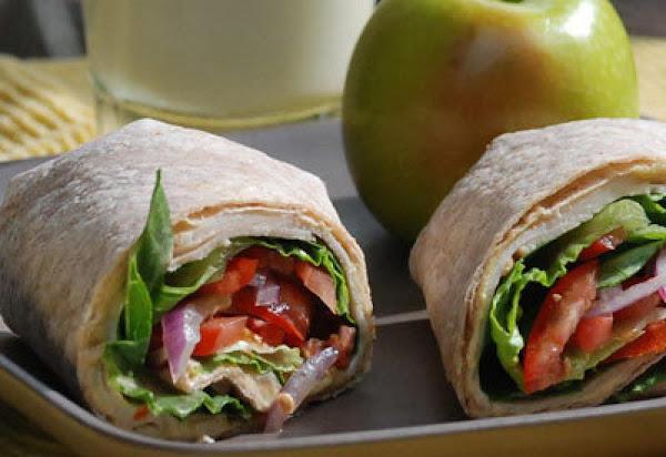 Tomato Turkey Hummus Wrap Recipe