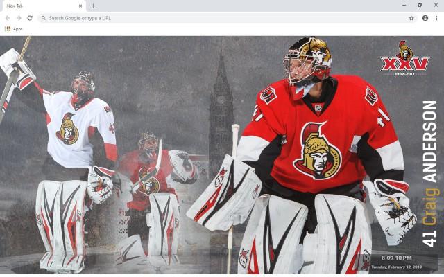 NHL Ottawa Senators New Tab Theme