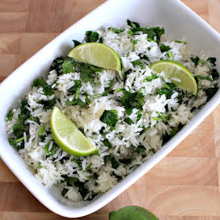 Garlic and Lime Cilantro Rice.