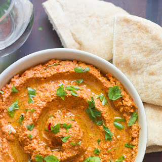 Muhammara (Roasted Red Pepper & Walnut Dip) Recipe