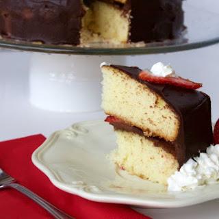 Strawberry Chocolate Ganache Cake.