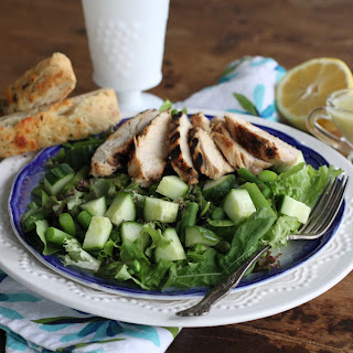 Green Green Salad W/Grilled Chicken & Creamy Honey Lemon Dressing