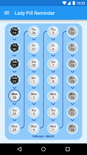 Lady Pill Reminder  ® screenshot 3
