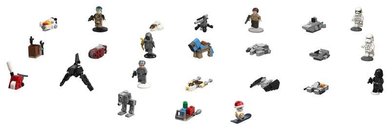 Contenido de Lego® 75184 Calendario de Adviento Star Wars