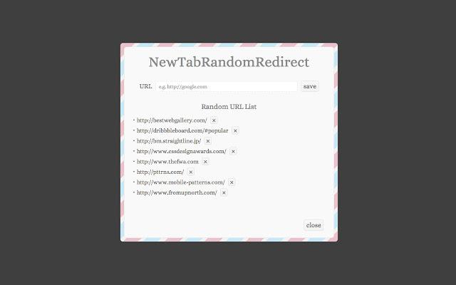 NewTabRandomRedirect