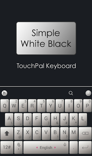 Simple White Black Keyboard