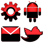 GO Theme Android Red Icon