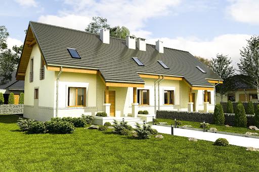 projekt Gajówka bez garażu bliźniak B-BL2